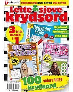 Lette og sjove krydsord 3 i 1 samling - Nummer 4